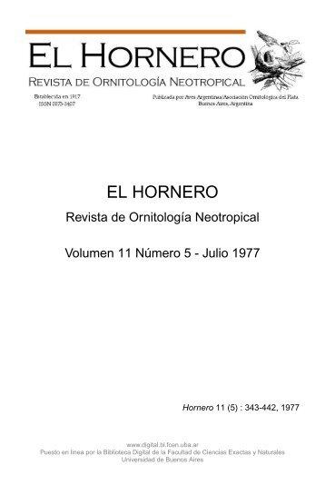el hornero - Biblioteca Digital FCEN UBA - Universidad de Buenos ...
