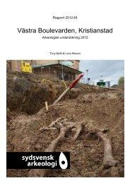 Västra Boulevarden, Kristianstad, Skåne. SU 2012. Tony Björk ...