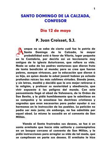 SANTO DOMINGO DE LA CALZADA, CONFESOR Día 12 de mayo ...