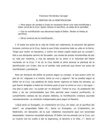 Francisco Fernández Carvajal EL SENTIDO DE LA ... - Homiletica.org