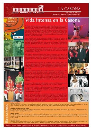 Boletín 199 - Centro Cultural de San Marcos CCSM