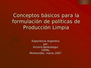 Conceptos básicos para la formulación de políticas de ... - Cepal