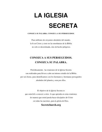 LA IGLESIA SECRETA - Park Hill Baptist Church