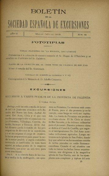 Boletà n de la Sociedad española de excursiones
