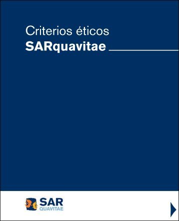 Criterios éticos SARquavitae