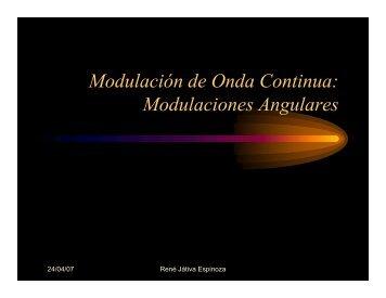 Modulación de Onda Continua: Modulaciones Angulares