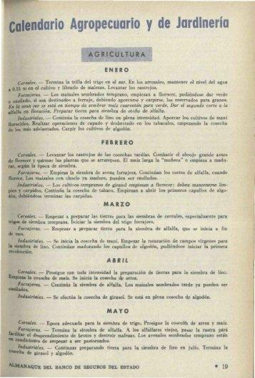 Calendario Agropecuario y de Jardinería - Banco de Seguros del ...