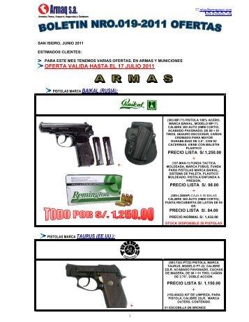 oferta valida hasta el 17 julio 2011 + + pistolas marca taurus (ee.uu.)