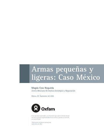 Armas pequeñas y ligeras: Caso México - Magda Coss