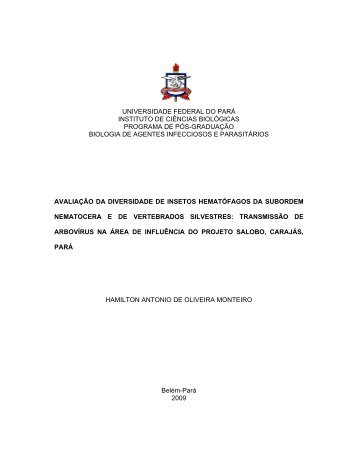 universidade federal do pará instituto de ciências biológicas
