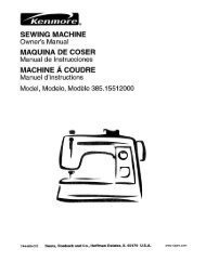 SEWING MACHINE Owner's Manual MAQUINA DE ... - ManageMyLife