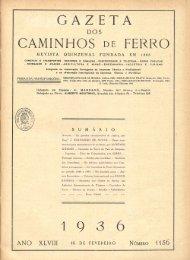Gazeta dos Caminhos de Ferro, N.º 1156 - Hemeroteca Digital
