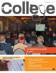 Revue Le Collège - hiver 2008 - Collège des médecins du Québec