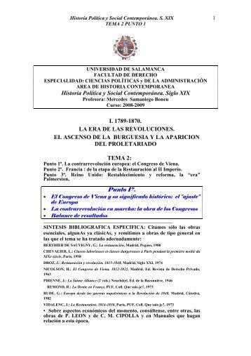 Historia Política y Social Contemporánea. S. XIX TEMA - OCW Usal ...
