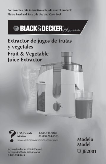 Extractor de jugos de frutas y vegetales Fruit & Vegetable Juice ...