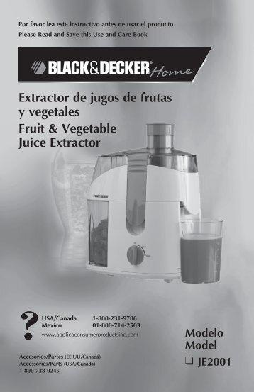 Extractor de jugos de frutas y vegetales Fruit & Vegetable Juice ...