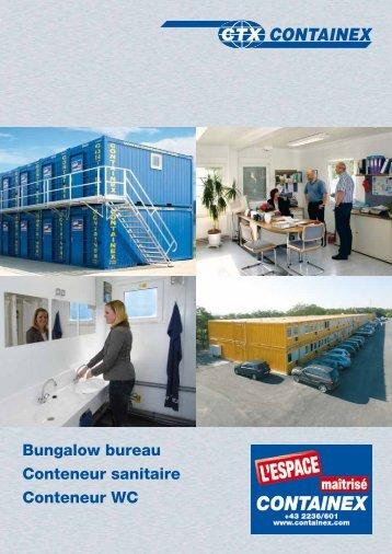 Bungalow bureau Conteneur sanitaire Conteneur ... - Marks Container