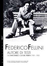 Federico Fellini autore di testi (pdf, 2142 Kb - Istituto per i Beni ...