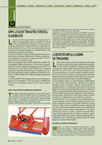 awps: le nuove trinciatrici forestali di agrimaster ... - FederUnacoma