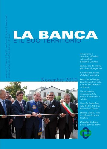 Giornalino Novembre 2010 - Banca di Monastier e del Sile