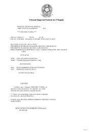 Tribunal Regional Federal da 3ª Região - Conselho Regional de ...