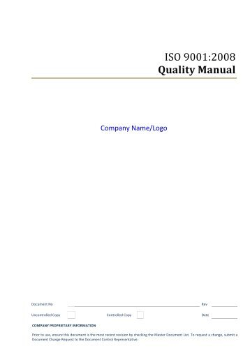 Procedure Quality Manual Control P Rev F  Quality Coils