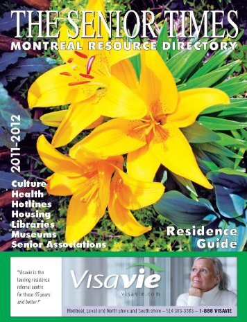 the senior times • montreal resource directory 2011/2012