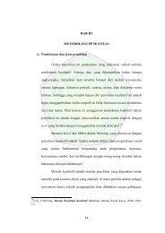 BAB III METODOLOGI PENELITIAN A. Pendekatan dan jenis ...
