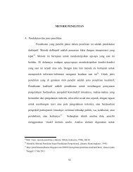 METODE PENELITIAN A. Pendekatan dan jenis penelitian ...