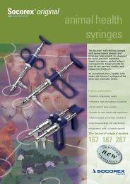 Leaflet syringes - Socorex
