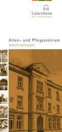 Alten- und Pflegezentrum - Kommunikation & Design
