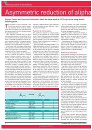 Asymmetric reduction of aliphati - nifty