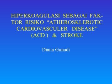 hiperkoagulasi sebagai fak - Rumah Sakit Husada