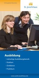 Ausbildung im St. Josefshaus - Kommunikation & Design
