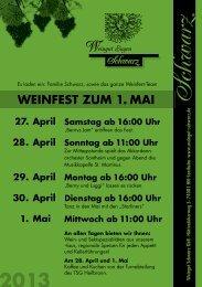 Weinfest 2013 - Weingut Schwarz