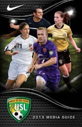 2013 USL Media gUide - United Soccer Leagues