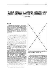 I. CHIESI, Cinque boccali di maiolica arcaica da - BibAr