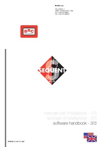 manuale per l'installatore - 1/3 tipologie d'installazione - 2/3 software ...