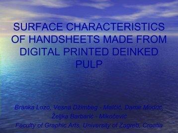 surface characteristics of handsheets made from digital printed ... - PFI