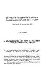 provisão dos bispados e concílio nacional no reinado de d. joão iv