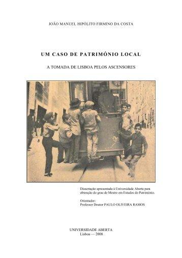 UM CASO DE PATRIMÓNIO LOCAL - Universidade Aberta