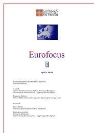 Eurofocus n. 3 dedicata alle fonti dell'Unione Europea. - Regione ...