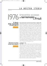 trecento scosse di terremoto in Friuli - Obiettivo Sicurezza - Corpo ...