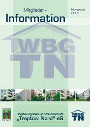 """Information Information - Wohnungsbau-Genossenschaft """"Treptow ..."""