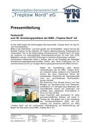 06/04 Festschrift 50 Jahre WBGTN - Wohnungsbau-Genossenschaft ...