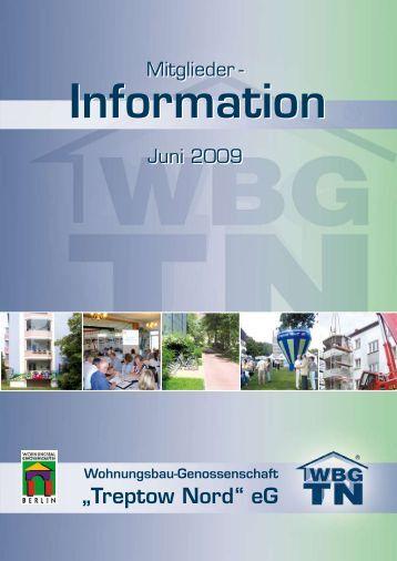 """1. Halbjahr 2009 - Wohnungsbau-Genossenschaft """"Treptow-Nord"""" eG"""