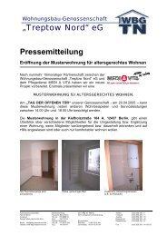 03/05 Altersgerechtes Wohnen in der WBGTN - Wohnungsbau ...