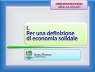 Diapositiva 1 - Facolta' di Scienze Politiche