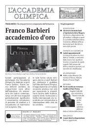 Anno XIV Marzo 2012-N. 1 - Accademia Olimpica