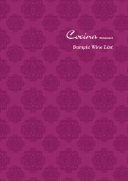Sample Wine List - Casa Hotel
